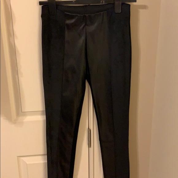 Black leggings from Zara -faux leather faux velour